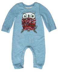Baby Girl Soft Romper with Embroidered Owl by Mimi & Maggie Product