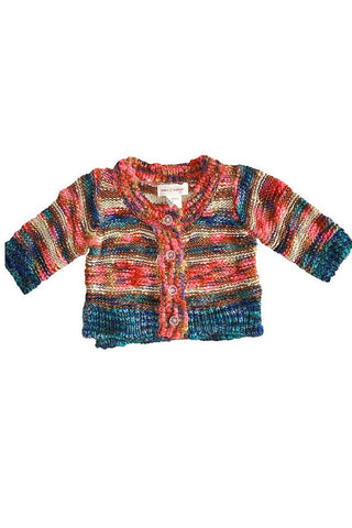 Ombre Rainbow Cardi Sweater by Mimi & Maggie