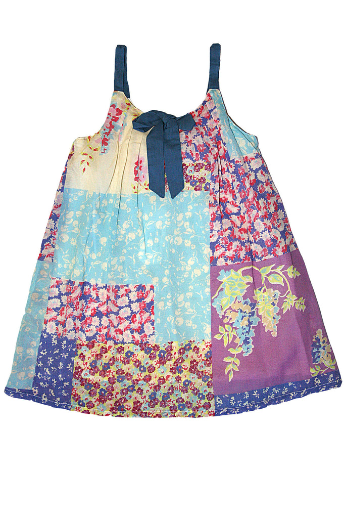 GIrl's Floral Print Sheath Moon in Provence Dress by Mimi & Maggie