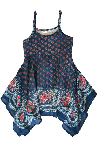 Indigo Blues Bandana Dress by Mimi & Maggie