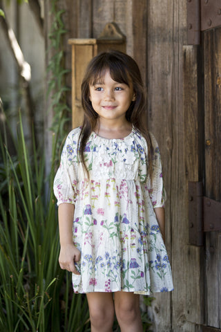 Watercolor Floral Sowing Seeds Dress by Mimi & Maggie