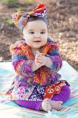 Super Soft Snuggly Multi Color Baby Sweater with Hood by Mimi & Maggie Free Shipping