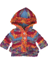 Super Soft Snuggly Multi Color Baby Sweater with Hood by Mimi & Maggie Image Free Shipping