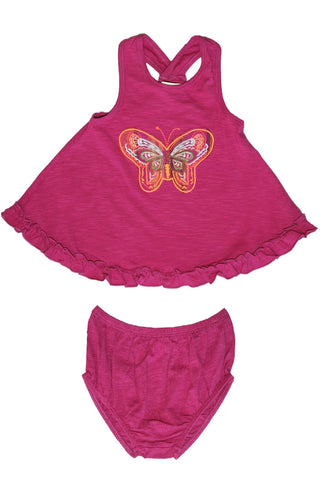Fuschia Bright Butterfly 2 PC Set by Mimi & Maggie