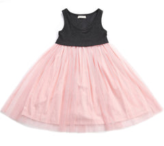 Girl's Gloria Dress by Anais & I Blush flat