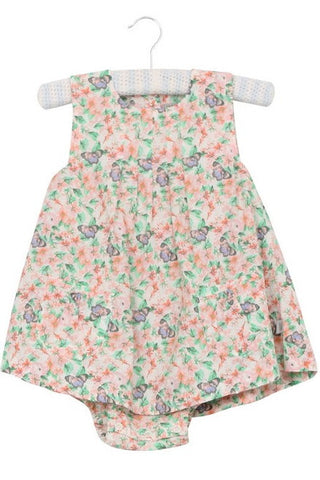 Butterfly Print Dress with Bodysuit by Wheat (Baby)