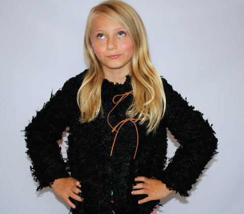 Black Fuzzy Jacket by Anais & I