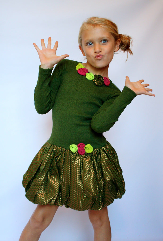 Girl's Christmas Party Dress by Sophie Catalou