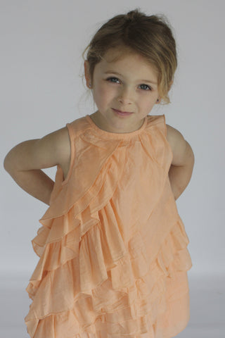 Peach Karla Ruffle Dress by Wheat