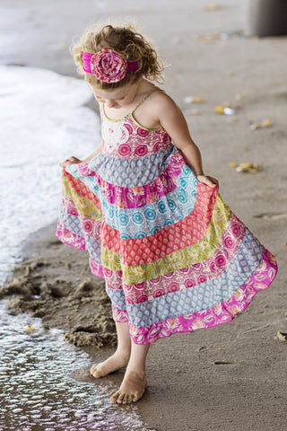 Island Trader Floral Print Tiered Sundress by Mimi & Maggie