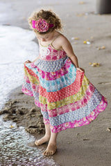 Toddler and Little Girl's Island Trader Floral Print Tiered Sundress by Mimi & Maggie