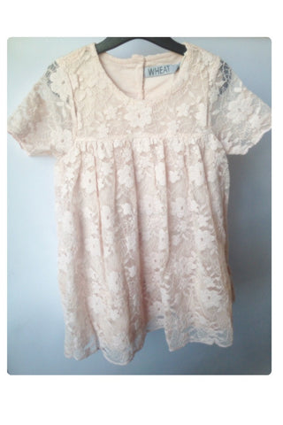 Ivory Lace Knit Fia Dress by Wheat
