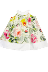 Toddler Girl's Floral Print Babydoll Joelle Dress by Max & Dora