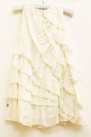 Ivory Karla Ruffle Dress by Wheat