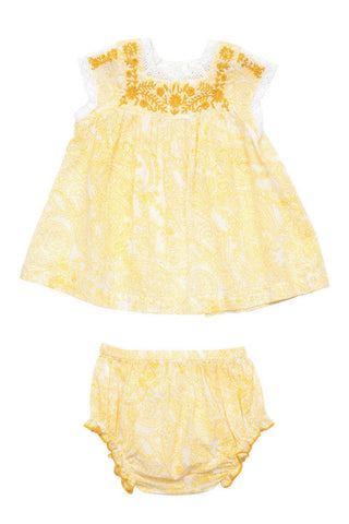 Sunflower Paisley Print Marabelle 2PC by Pink Chicken (Baby)