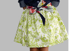 Girl's Green toile Print Milly Skirt by Max & Dora Zoom