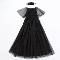 Black Glitter Party Dress by Anais & I Free Shipping flat