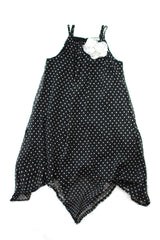 GIrl's Black and White Polka Dot Strada Dress by Sophie Catalou product