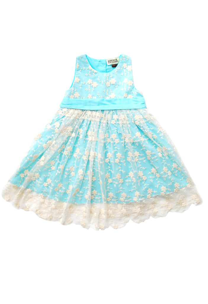 Toddler Girl's Elsa Seafoam and lace Dress by Sophie Catalou  product