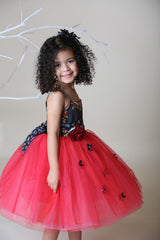 Red Magpie & Mabel Amelia Special Occasion Tutu Dress Side