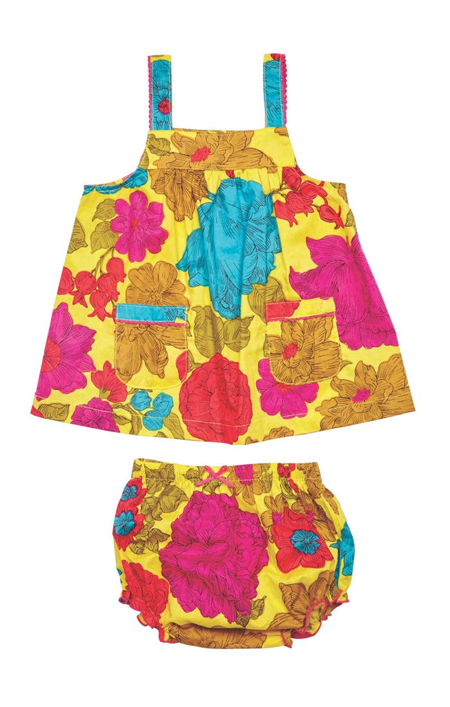 Lemon Floral Baby GIrl's 2 PC Set by Pink Chicken Free Shipping