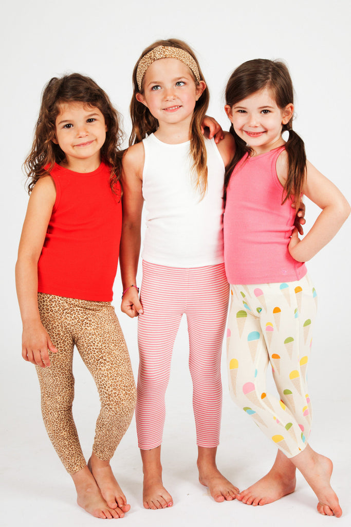 Little girl's animal print legging by Pink Chicken