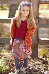 Girl's Super Soft Autumn Harvest Hooded Sweater Coat by Mimi & Maggie Free Shipping