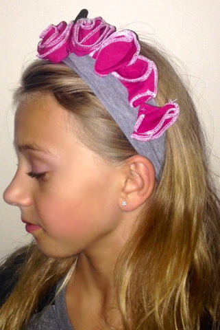Flower Garland Knit Headband