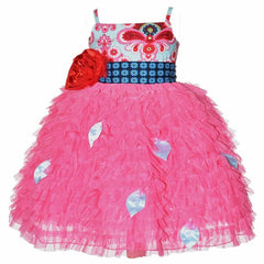 Baby and Toddler Girl's Magpie & Mabel Pink Primrose Ruffle Special Occasssion Dress Product