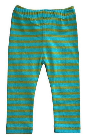 Turquoise Stripe Legging (Baby) by Mimi & Maggie
