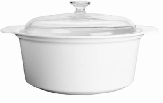 Corningware- 2.25L Covered Casserole-Winter Frost White