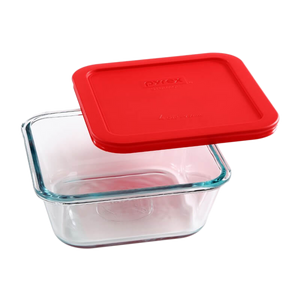 Pyrex-4cup/950ML Square Storage Red