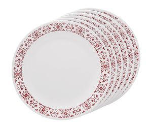 Corelle® 6Pcs Dinner Plate Red Trellies