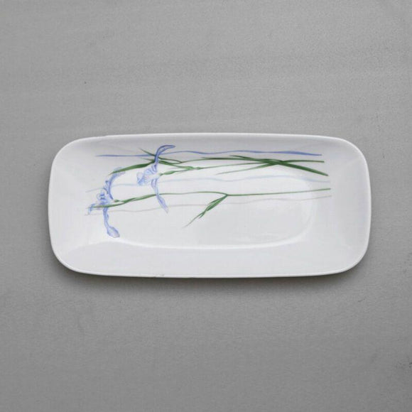 Corelle-4Pcs-Sq.Fish Plate-Sq.Shadow Iris