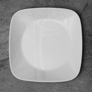 Corelle-2Pcs-Sq.Medium Plate-Sq.Frost