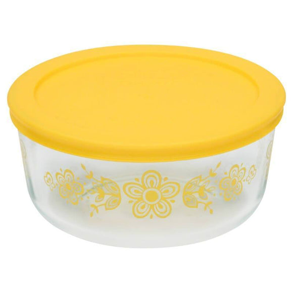 Pyrex Decorated Storage 4-cup/950ml Round Storage Butterfly WPC - Butterscotch