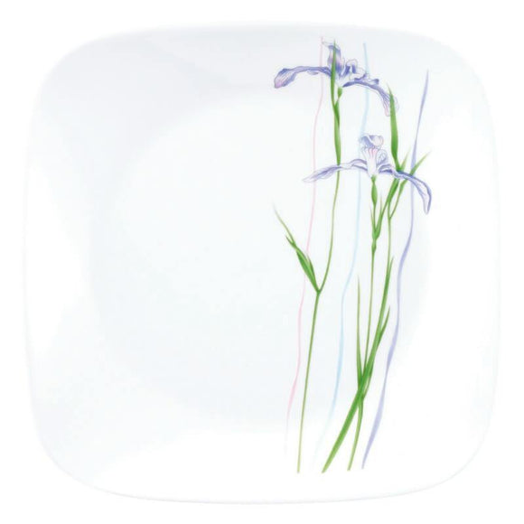 Corelle® Square Round Asia Shadow Iris Square Round Bread & Butter Plate