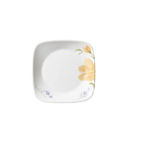 Corelle-4Pcs-Sq.Small Plate-Sq.Begonia