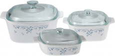 Corningware- Casserole Set (6 Pcs) - Provincial Blue