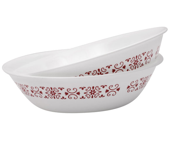 Corelle® 2Pcs 1Ltr Serving Bowl Red Trellies