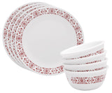 Corelle® 8Pcs Dinner Set Red Trellies