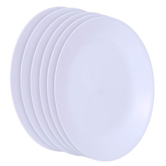 Corelle Livingware Winter Frost White  6pcs Dinner Plates