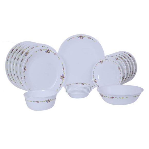 Corelle Livingware Romantic Floral 21pcs Dinner Set