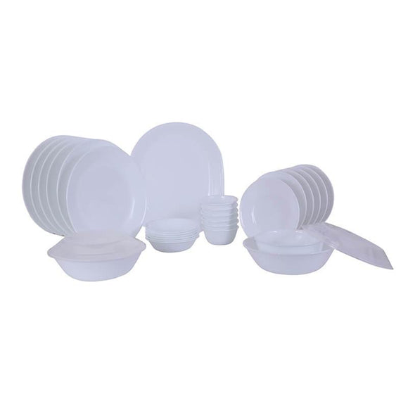 Corelle Winter Frost White  30pcs Dinner Set