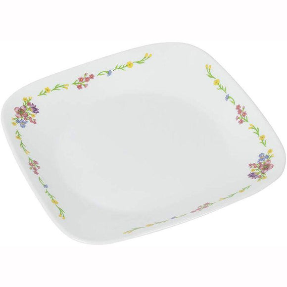 Corelle-4Pcs-Sq.Dinner Plate-Sq.Romantic Floral