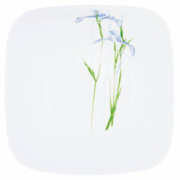 Corelle-2Pcs-Sq.Medium Plate-Sq.Shadow Iris