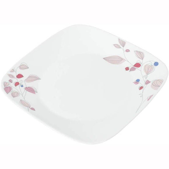 Corelle-3Pcs-Sq.Medium Plate-Sq.Pink Breeze
