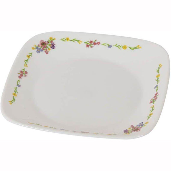 Corelle-4Pcs-Sq.Small Plate-Sq.Romantic Floral