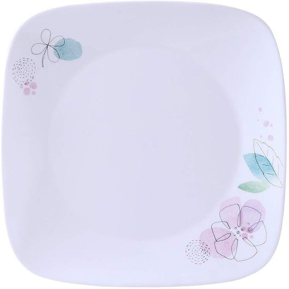 Corelle-4Pcs-Sq.Dinner Plate-Sq.Poetic Melody