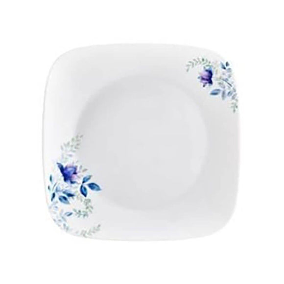 Corelle-4Pcs-Sq.Small Plate-Sq.Blue Floral